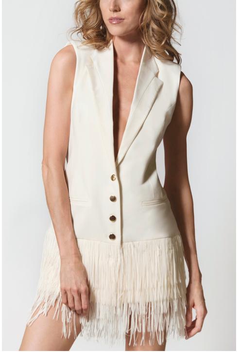 Fringe Blazer Dress 1014