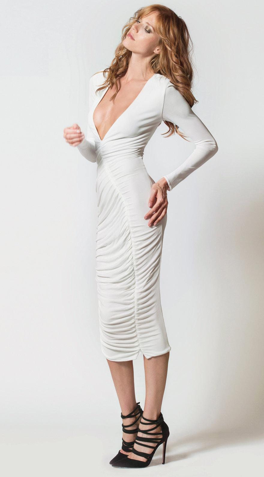 Zipper Slit Dress