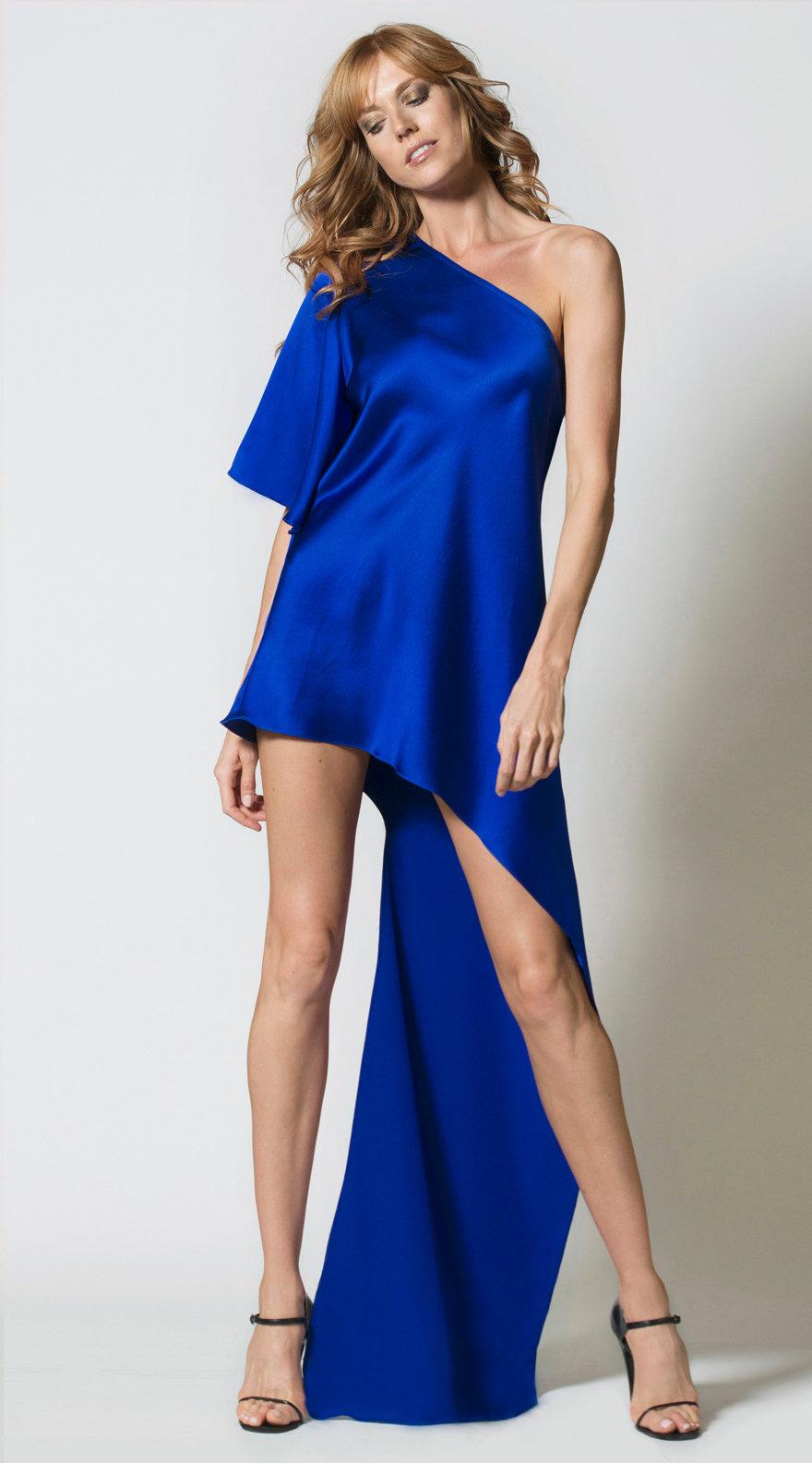 Asymmetrical Poncho Dress