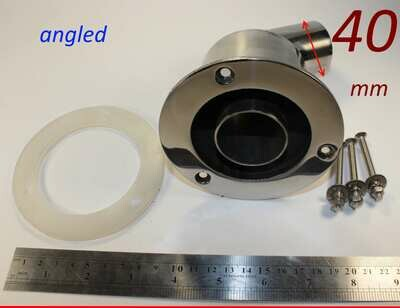 Exhaust thru hull outlet / skin fitting 40mm (angled marine stainless steel)