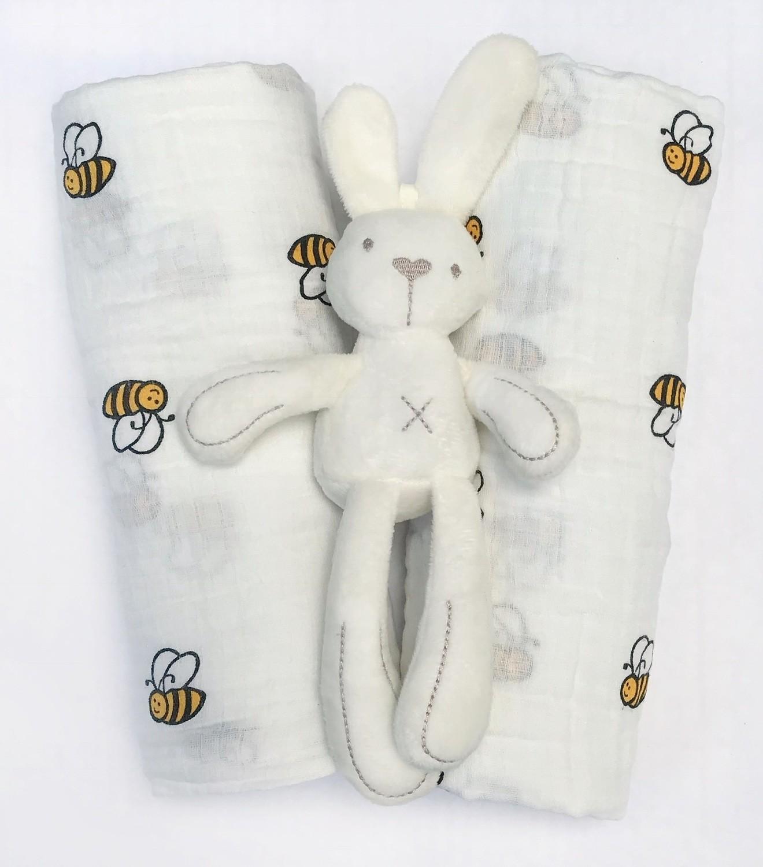 Муслиновая пеленка «Пчелки»