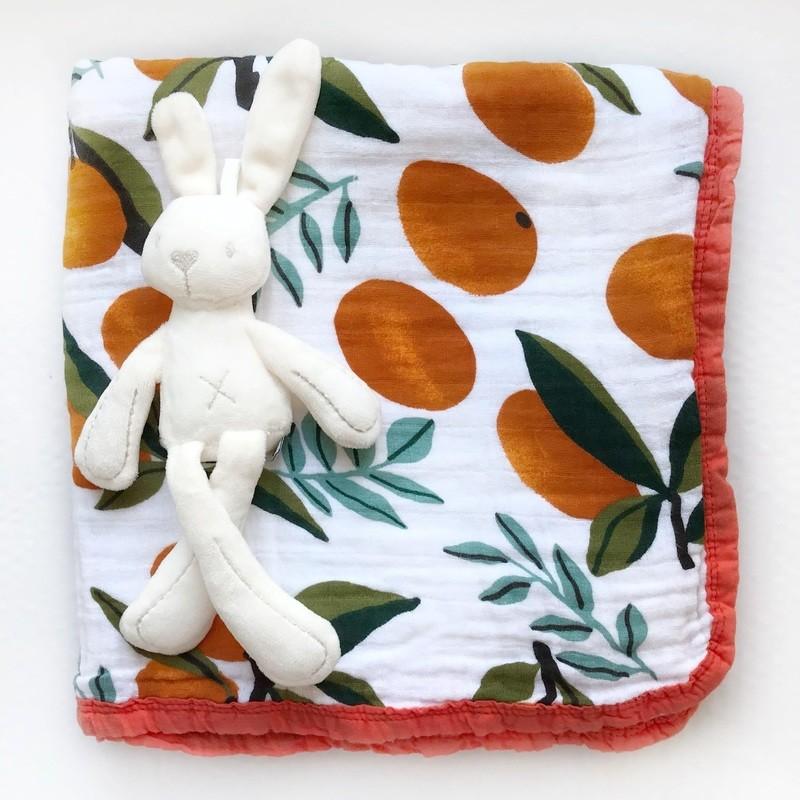 Муслиновое одеяло «Апельсины»