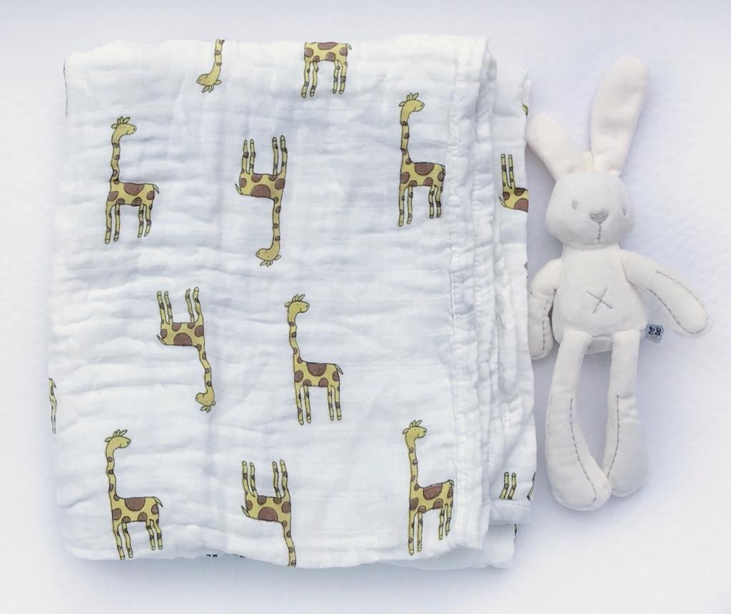 Муслиновое одеяло «Жирафы»