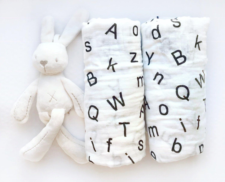 Муслиновая пеленка «Буквы»
