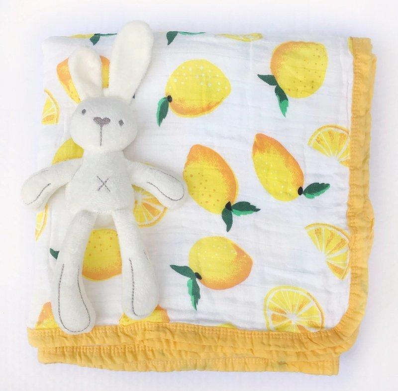 Муслиновое одеяло «Лимоны»