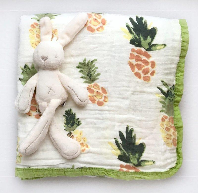 Муслиновое одеяло «Ананасы»
