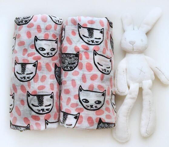 Муслиновая пеленка «Коты»