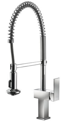 Single-lever pull-out spray kitchen mixer