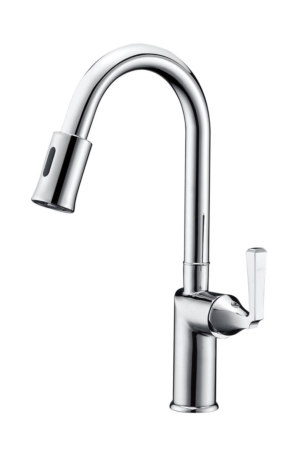 Single-handle sensor kitchen faucet