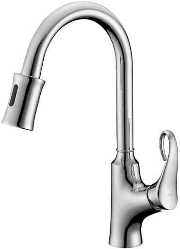 Single-lever sensor kitchen faucet