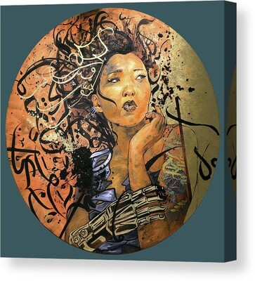 Print Aymana Cyber Girl