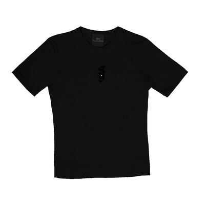 T-SHIRT nera con logo JY