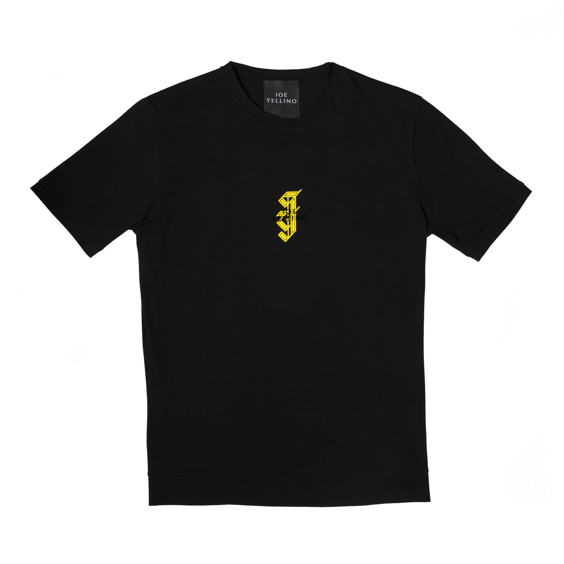 Black T-shirt with yellow logo 00098