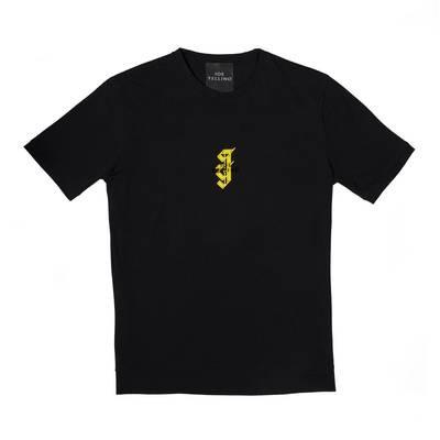 T-SHIRT nera con logo JY oro