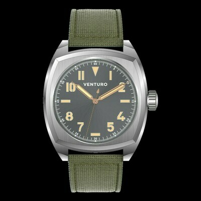 Venturo Field Watch #2 Grigio sunburst / Grey Sunburst Preordine / Preorder