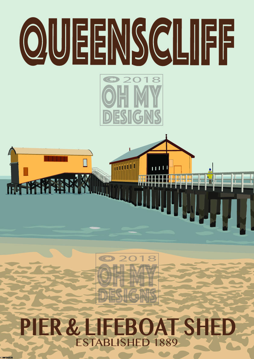 Queenscliffe - Pier & Lifeboat Shed QC-PS