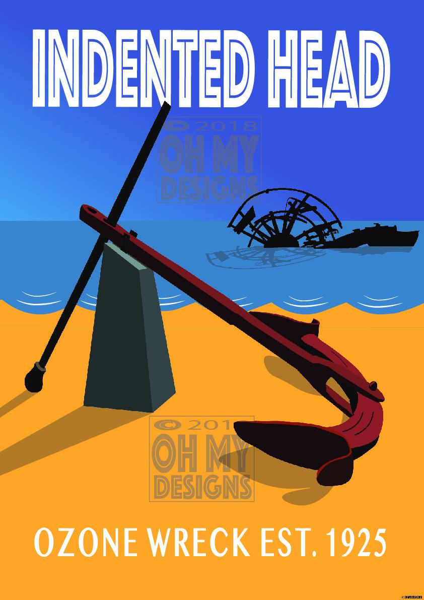 Indented Head - Ozone Blue IH-OB