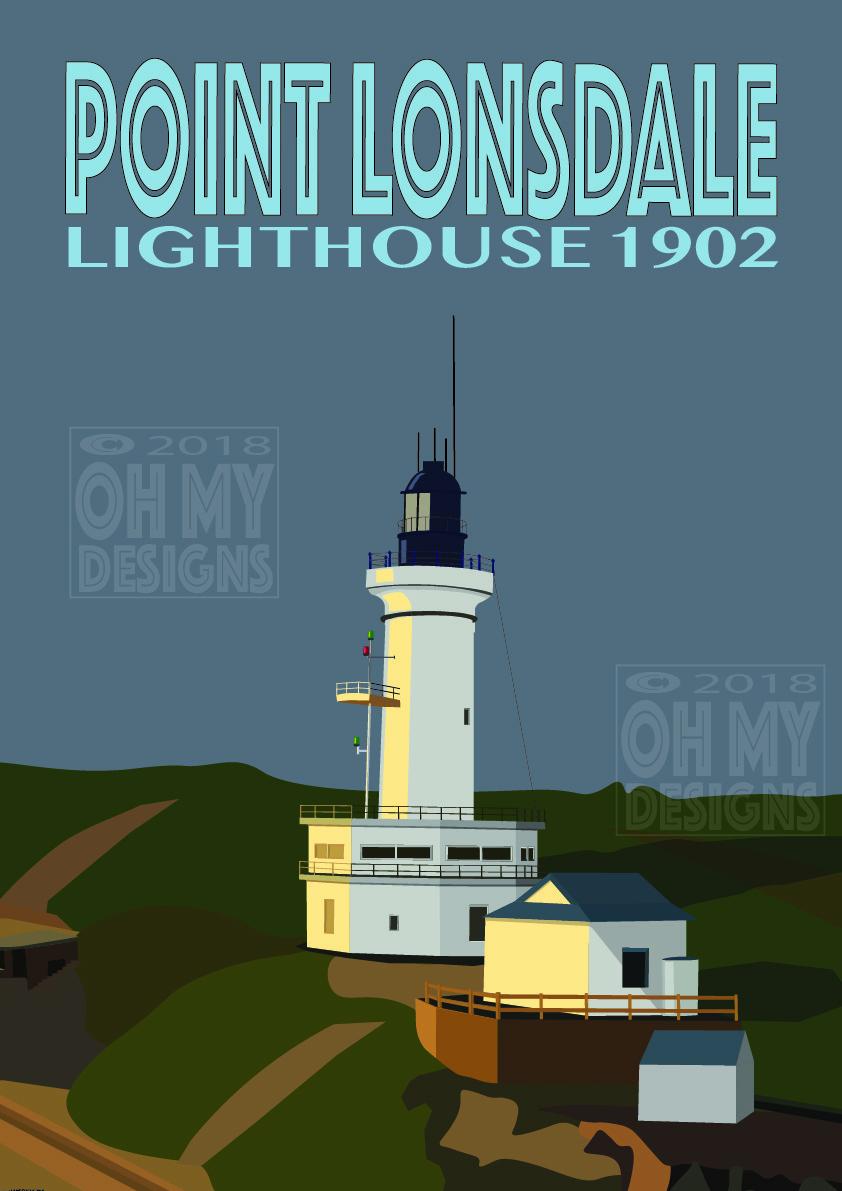 Point Lonsdale - Lighthouse, dusk PL-LD