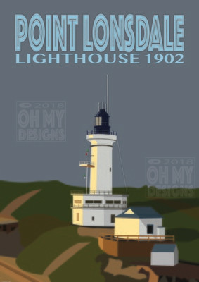 Point Lonsdale - Lighthouse, dusk