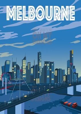 Melbourne - Morning Skyline