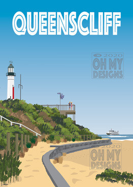 NEWEST! Queenscliff - White Lighthouse