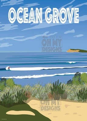 NEWEST! Ocean Grove - View to the bluff