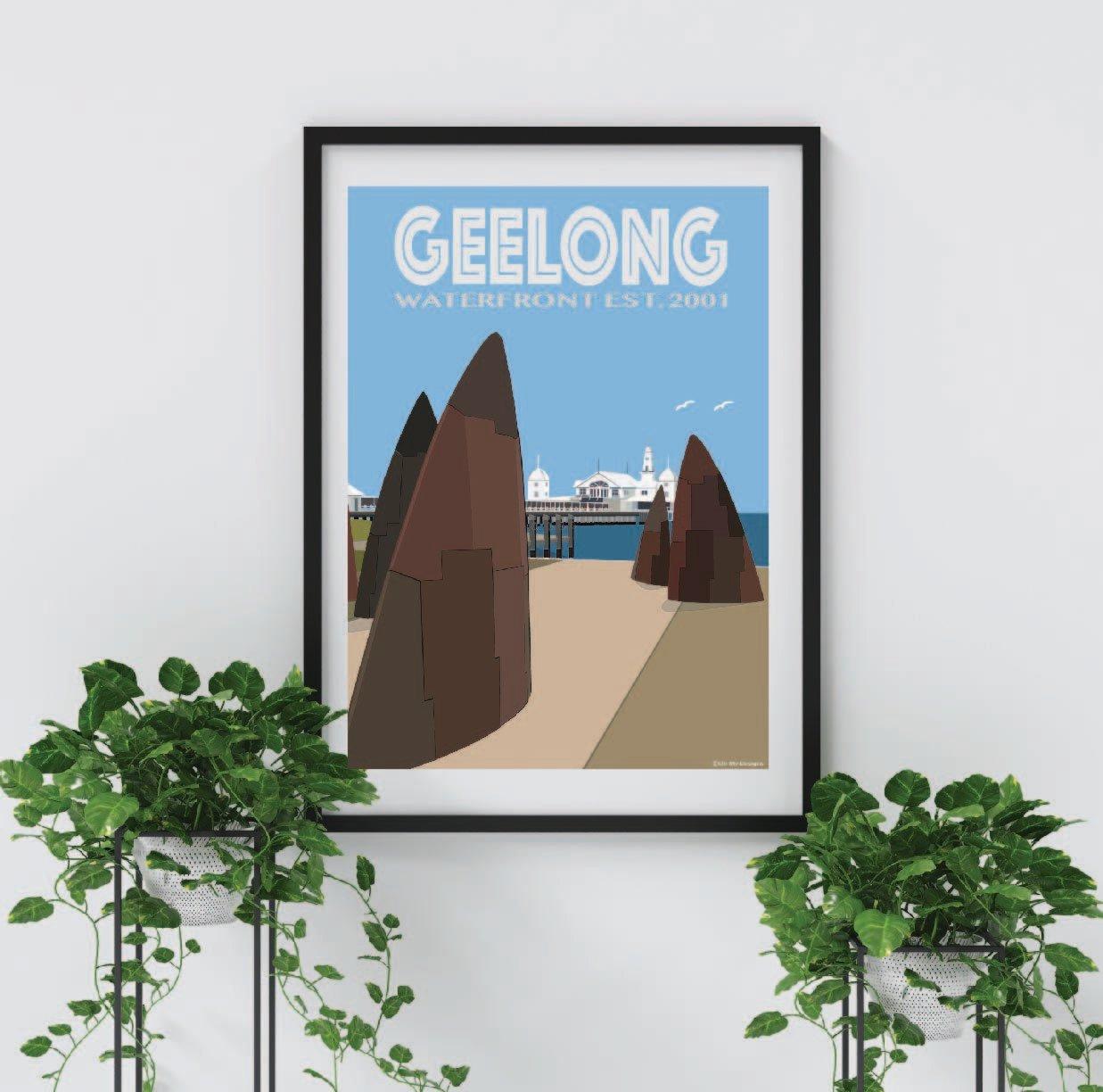Geelong Foreshore - Shark Fins