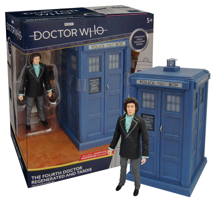 "Doctor Who: 4th Doctor Regenerated 5.5"" Figure & TARDIS Collector Set"