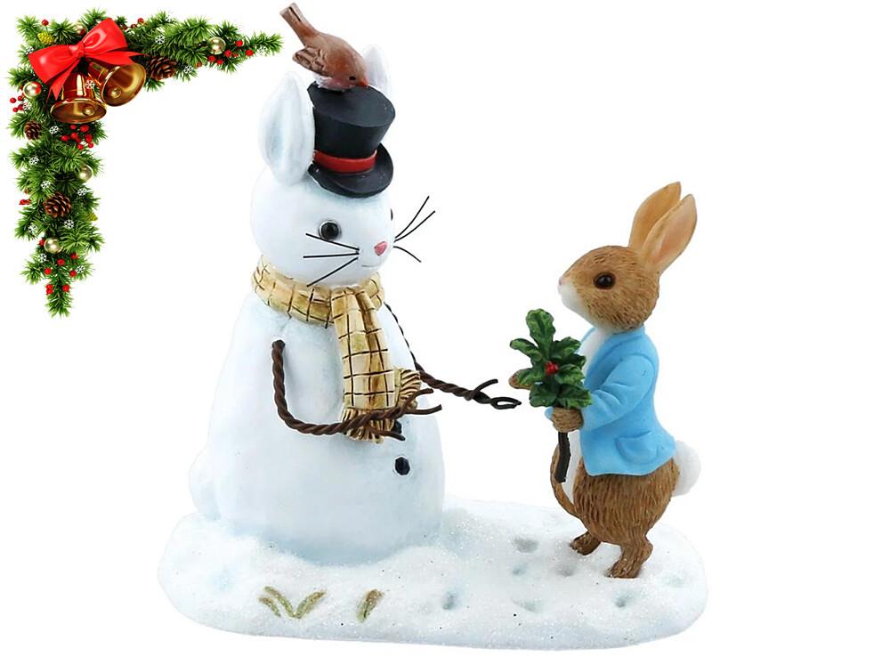 Beatrix Potter 'Peter Rabbit and Snow Rabbit' Collectable Figurine