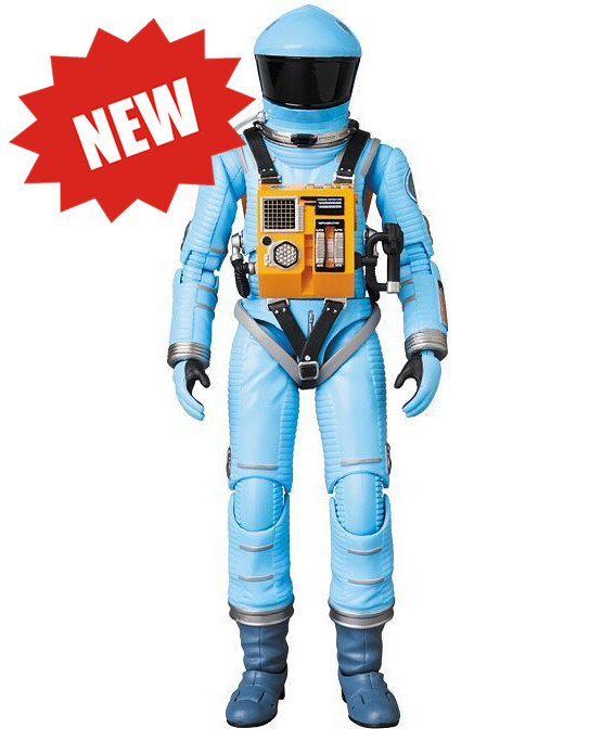 Medicom '2001: A Space Odyssey' Space Suit Action Figure - Light Blue Version - Approximately 16cm Tall