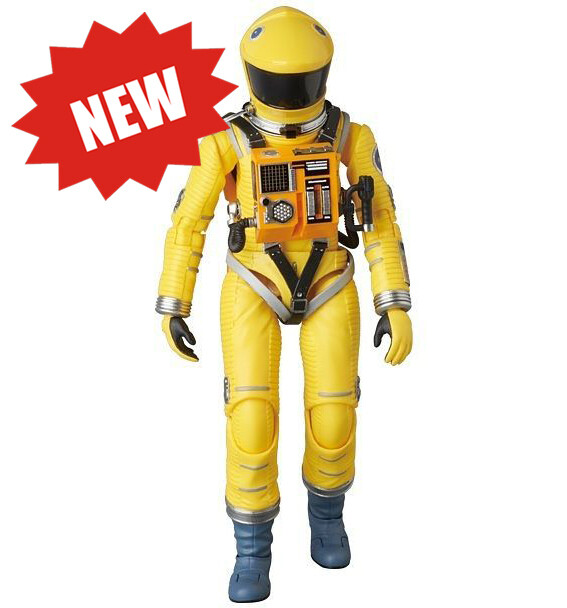 Medicom '2001: A Space Odyssey' Space Suit Action Figure - Yellow Version - Approximately 16cm Tall