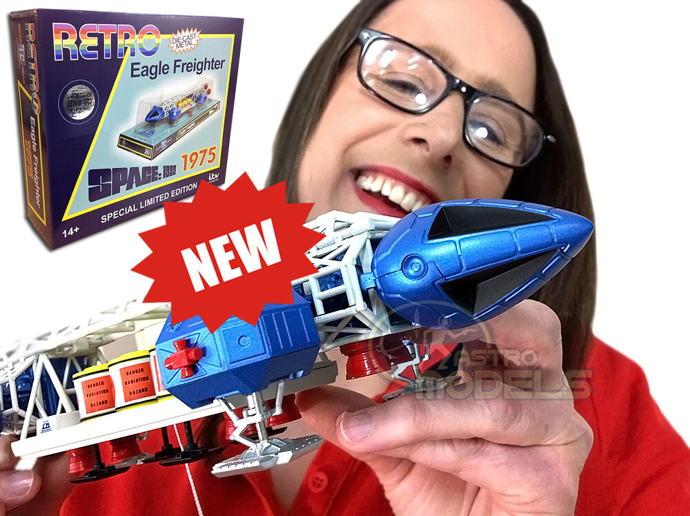 """Sixteen12 Diecast Retro Eagle Freighter From 'SPACE: 1999' - 12"""" Long LIMITED EDITION!"""