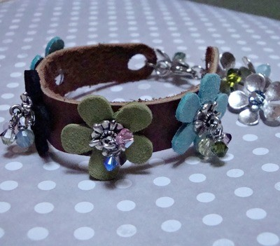 Spring Garden Leather Bracelet