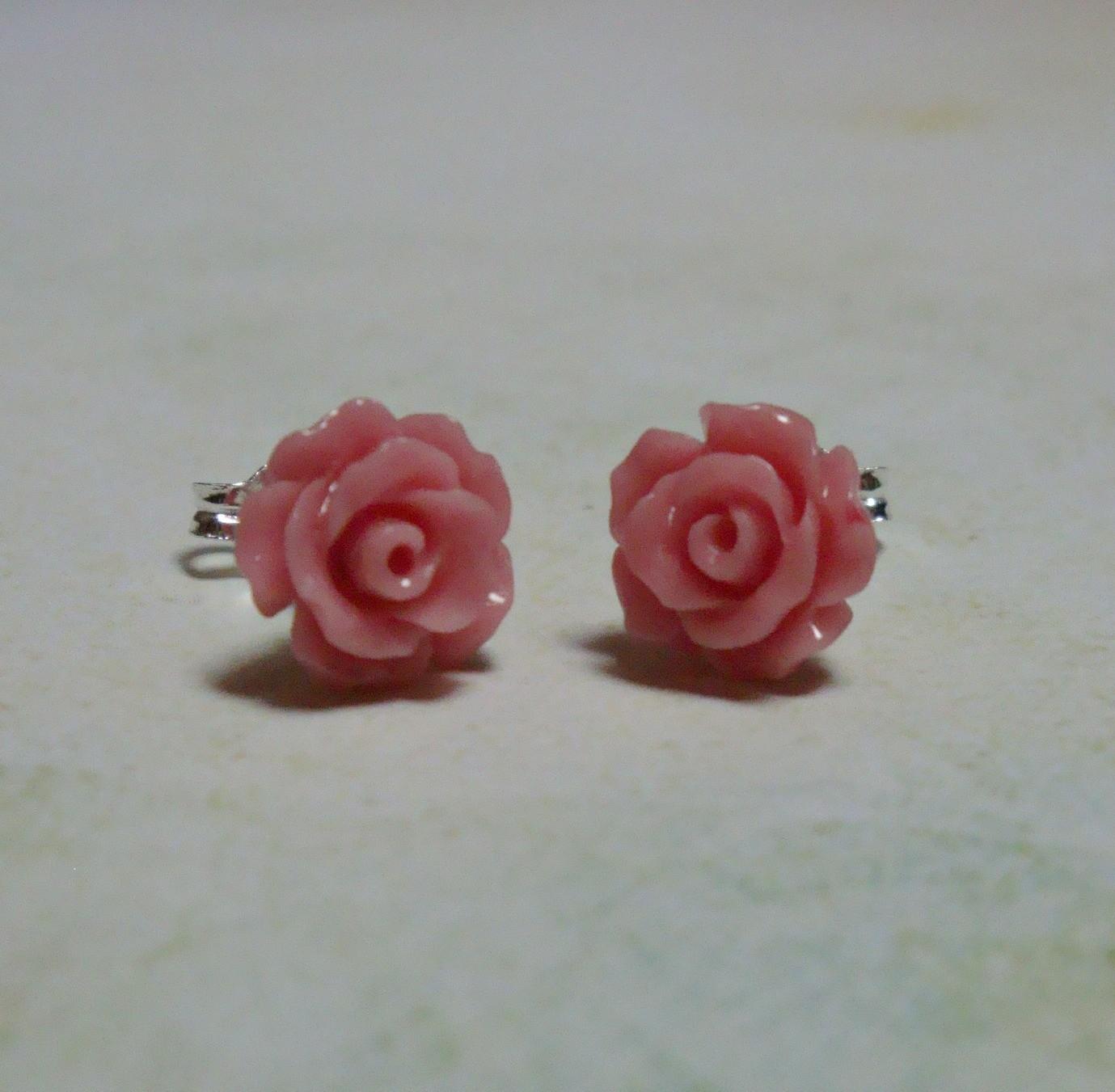 Rose Petals Sterling Earrings - mini