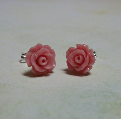 Rose Petals Sterling Earrings - mini