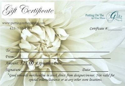 Gift Certificate- $25.00