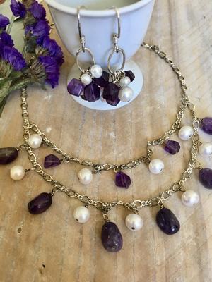 Iris Beauty Sterling Earring/Necklace Set