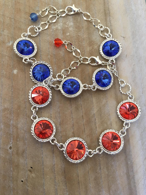 Special Order for Jeanne Petershagen-Two Boise State Bracelets