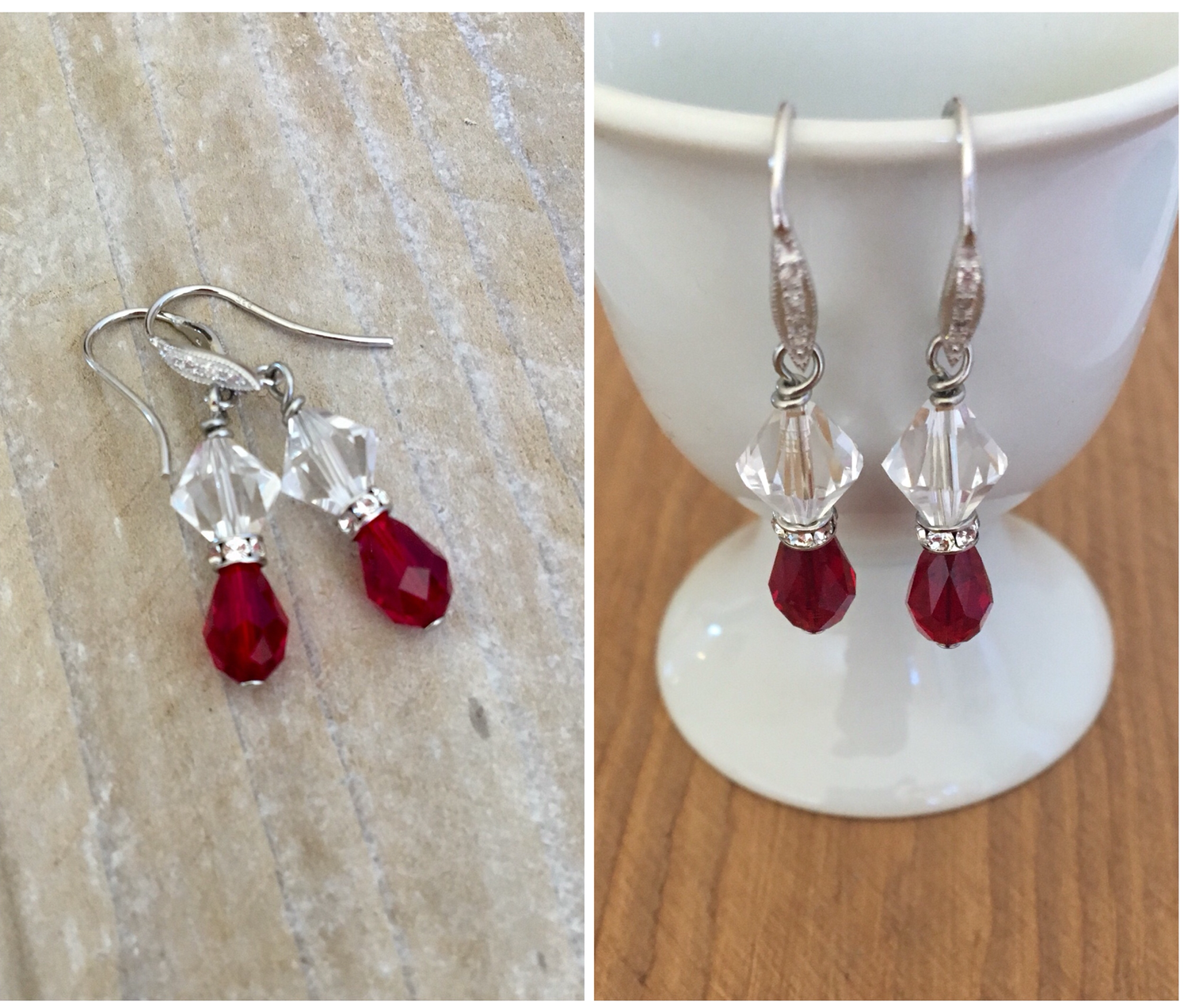 Special order Christmas earrings for Christine Anderson