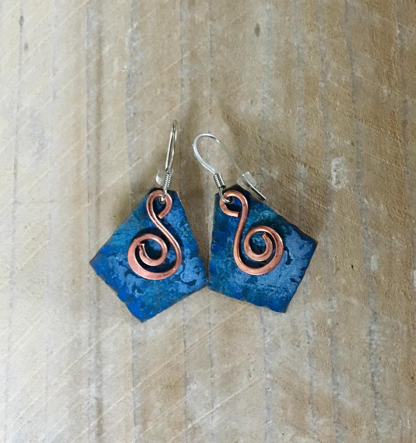 Special order for Christine A. Copper Patina/ Stainless Earrings