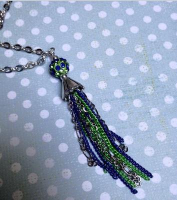 Seahawks Tassel Necklace
