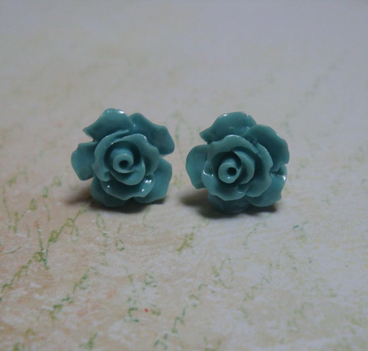 Rose Petals Sterling Earrings
