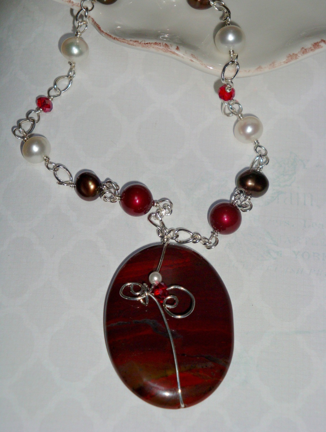 Burning Embers Sterling Necklace