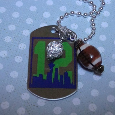Hawks Dog Tag Necklace