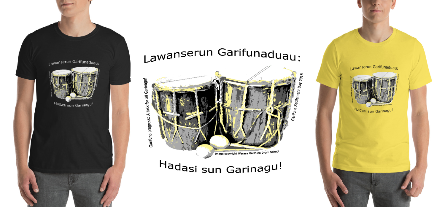 Garifuna Settlement Day 2018 Tshirts (Available in Yellow or Black)