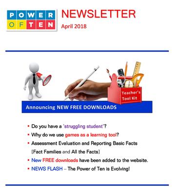 Power of Ten Newsletter - April 2018