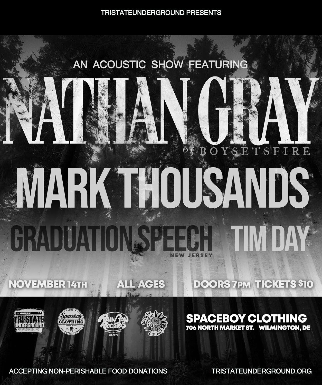 NATHAN GRAY / MARK THOUSANDS / GRADUATION SPEECH / TIM DAY