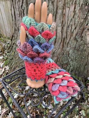 Crocodile Stitch Texting Gloves