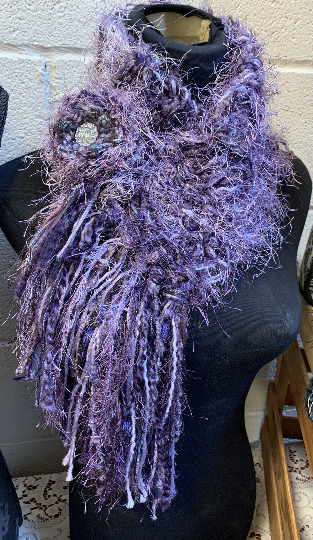 Knitted Fringe Scarflette