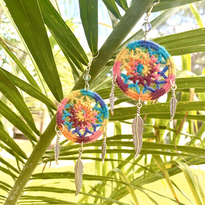 Rainbow Dream weaver Earrings
